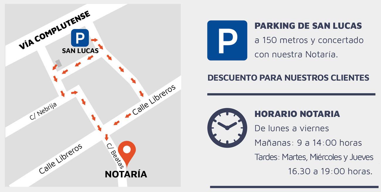 Notaria Aparicio, aparcamiento gratuito en Alcala de Henares